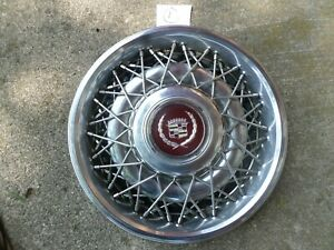 1986 To 1992 Cadillac Fleetwood Brougham 4 Wire Spoke Hubcap Wheel Cover Factory