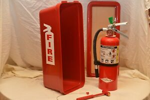 5lb Red Fire Extinguisher Cabinet And 5lb Abc Fire Extinguisher Combo