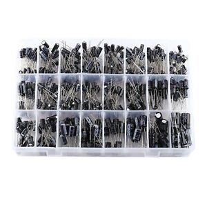 24 Values Aluminum Electrolytic Capacitor Assorted Kit Practical Diy Accessor