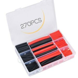 Moveland 270pcs 3 1 Dual Wall Adhesive Heat Shrink Tubing Kit With Storage Ca