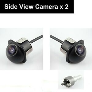 Ekylin Pair Car Auto 20mm Hole Drilling Side View Camera Side Mirror Mount Re