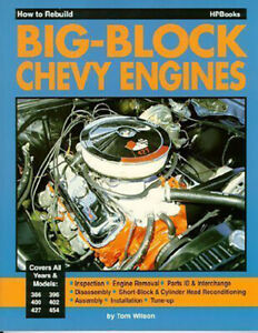 Chevrolet Engine Manual Big Block Book How To Rebuild Wilson 396 454 427 400 402