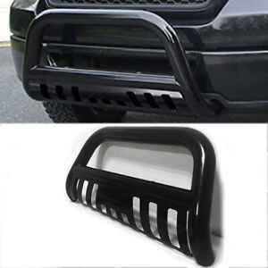 Front Bull Bar Bumper Grille Guard Stainless Steel Black For 05 15 Toyota Tacoma