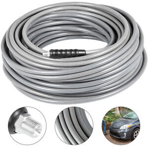 3 8 50ft Pressure Washer Hose Carpet Cleaning Hose High 120 Steel Extension
