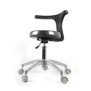 Dental Medical Doctor Assistant Stool Mobile Chair Adjustable Pu Leather 360