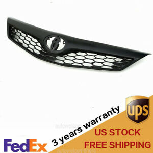 Fit Toyota Camry 2012 2014 Se Matte Black Honeycomb Front Upper Grille Grill