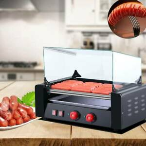 Hot Dogs Machine Stainless 1650w 11 Rollers 30 Commercial Electric Grill