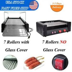 Hot Dog Stainless Electric 7 11roller Grill 18 30cooker Cover Commercial Machine