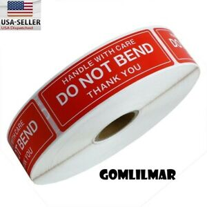 5 Rolls 1000 1x3 Do Not Bend Stickers Labels Easy Peel And Apply