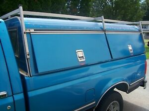 Are Truck Cap 94 Ford Used Commercial With Storage Compartments And Ladder Rack