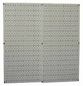 Metal Wall Pegboard 2 Pack 32 X 16 Steel Peg Board Panel Organizer Shelf Tools