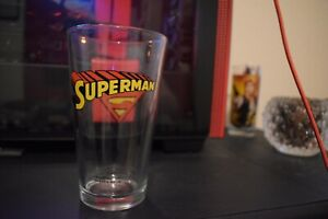 Superman Glass By ICUP - DC Comics Trademarked