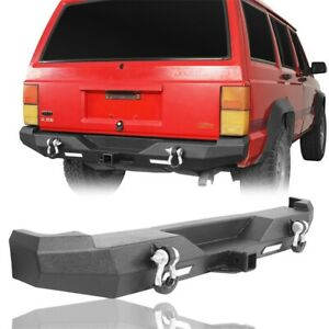 Discovery Rear Bumper W 2 18w Led Floodlights For Jeep Cherokee Xj 1984 2001