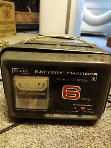 Vintage Sears 6 Amp Battery Charger 6 And 12 Volt