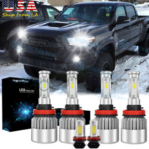 For Toyota Tacoma 2016 2020 Led Headlight High Low Fog Light Bulbs Combo Kit 6x