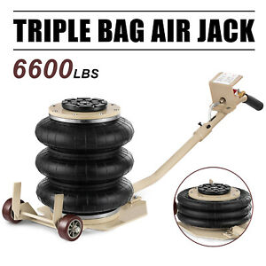 3 Ton Triple Bag Air Jack Lifting Height 18 Pneumatic Jack 6600lbs Capacity