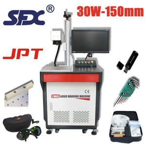 Jpt Laser Source 30w Vertical Fiber Laser Marking Machine metal non Metal Marker