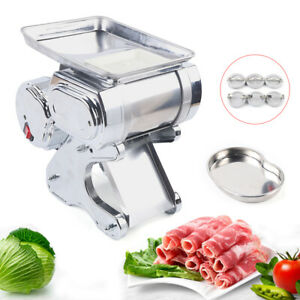 110v Commercial Electric Meat Slicer Stainless Meat Cutter Machine Output 55kg h
