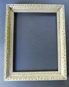 2 Vintage Wood Chalky White Gilt Gold Ornate Picture Frame Holds 12 X 16