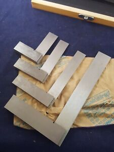 Boxed Set Of 4 Machinists Precision Squares