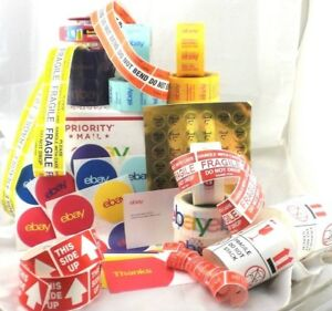 Ebay Branded Shipping Packing Supplies Huge Variety Lot Of 156 Tape Stickers Mor