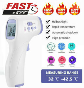 Infrared Digital Forehead Thermometer Touchless Baby Adult Temperature Gun Usa
