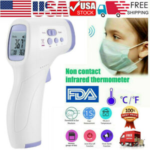 Digital Non Contact Infrared Ir Thermometer Gun Body Forehead Adult Baby Usa Dd