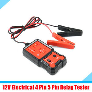 Dc 12v Vehicle Car Suv Relay Tester Test Tool With Led Indicator Plastic Metal