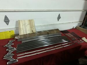 Nos 1963 Ford Mercury Roof Luggage Rack C3az 2555100 b Galaxie Fomoco 63