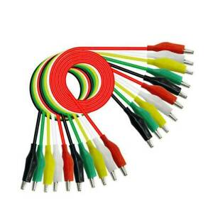 10x Alligator Clip Test Leads Set Wg 026 Dual Ended Jumper Wire Cable 5 Colors