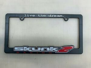 Skunk2 Racing Live The Dream Plastic License Plate Frame Jdm Civic Accord New