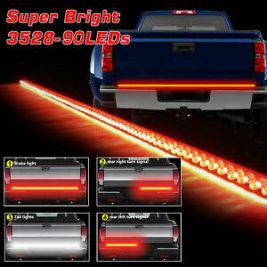 Led Rear Brake Signal Reverse Truck Tailgate Light Strip Bar For Silverado 1500