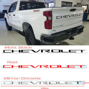 Abs Inserts Tailgate Letters For Chevrolet Silverado 2019 2020 Us