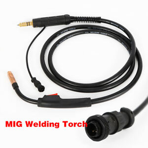 New 3m 10ft Heavy Duty Conical Nozzle Mig Welding Gun Torch For Miller M 10 M 10