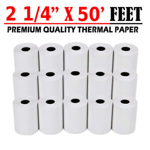2 1 4 X 50 Thermal Receipt Paper Credit Card Pos Cash Register 100 Rolls