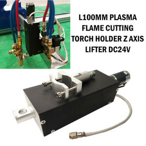 Plasma Flame Cutting Torch Holder For Cnc Machine Z Axis Lifter L100mm D