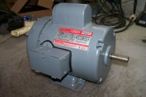 New Dayton 1 Hp Electric Ac Motor 115 230 Vac 3450 Rpm 1 Phase F56 Frame 6k484b