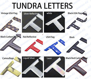 Domed 3d Raised Tailgate Insert Letters Decal For 2014 2020 Toyota Tundra