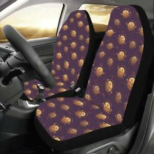 Cookie Pattern Purple Universal Fit Car Seat Covers Car Seat Protector Car Acess