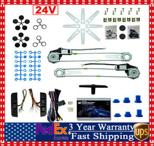 2 Door Car Pickup Universal Electric Power Window Lift Regulator Conversion Kit