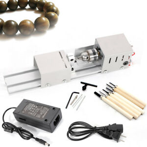 Miniature Beads Lathe Machine 100w Mini Woodworking Lathe Mini Bench Drill Tool