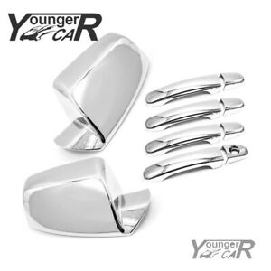 Chrome Mirror 4 Door Handle Covers For Gmc Terrain Chevy Equinox 2010 2017 Abs