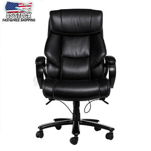 Us 400lb High Back Height Adjustable Swivel Chair Leather Executive Home Office
