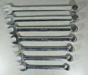 7 Vtg Snap On Oex24 Oex36 3 4 1 1 8 Sae 12pt Combination Wrench Set