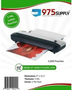 975 Supply 3 Mil Clear Letter Laminating Pouches 9 X 11 5 5 000 pack