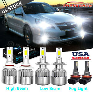 For Subaru Legacy Outback 2010 2012 6x 9005 H7 Led Headlight H11 Fog Light Bulbs