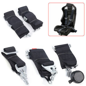3 5 Point Sport Racing Style Harness Safety Seat Belt Cam Lock Quick Release