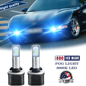 2x 2smd Led Fog Light Replacement Kit 70w Ice Blue For Chevy Corvette C5 1997 04