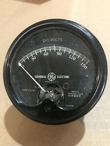 Vintage Round Ge Do 40 Dc 0 150 Volts Panel Meter