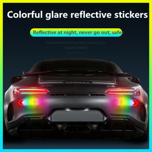 New Styling Auto Warning Safe Reflective Sticker Decal Rearview Mirror Drop Glue